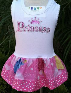 Disney Princess Dress   Available in   03 by BabyThreadsByLiz, $23.00