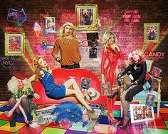 """Girl Code"" #popart #digitalart #art #ladygsga #britneyspears #kylieminouge #madonna #debbieharry"