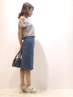 kamiseさんのデニムスカート「JILLSTUART ラップデニムスカート」を使ったコーディネート