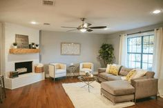 Argos by Sherwin-Williams. Magnolia Homes. Paint colors on HGTV Fixer Upper… Fixer Upper Paint Colors, Wall Paint Colors, Interior Paint Colors, Interior Painting, Purple Interior, Interior Walls, Living Room Paint, My Living Room, Home And Living