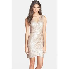 Women's Hailey by Adrianna Papell Sequin Faux Wrap Dress - Nordstrom