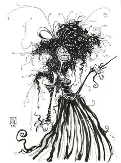 Harry Potter Bellatrix LeStrange Sketch from Skottie Young - News - GeekTyrant