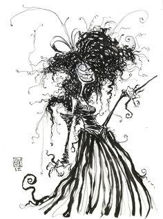 Bellatrix LeStrange Sketch from SkottieYoung