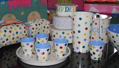 Emma Bridgewater Polka Dot melamine and picnic collection from Vibrant Home