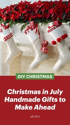 The Night Before Christmas, Christmas In July, Diy Christmas Gifts, Christmas Home, Christmas Stockings, Christmas Ideas, Xmas, Christmas Table Decorations, Holiday Decor