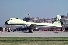 Aviation Traders Carvair transporter operated by Aer Lingus. Cargo Aircraft, Passenger Aircraft, Commercial Plane, Commercial Aircraft, British Airline, Douglas Aircraft, Helicopter Plane, Old Lorries, Dublin Airport