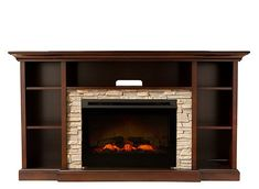 "Merrick 65"" TV Console w/ 25"" Electric Fireplace 