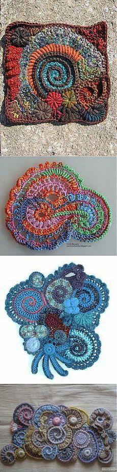 crochet freeform в Pinterest
