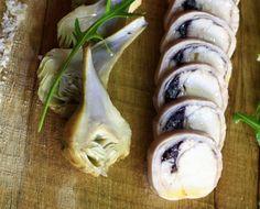 Râble de Lapin (Saddle of Rabbit Stuffed with Olives and Baby Purple Artichokes)par le chef Ludovic Aillaud du restaurant L'Epicurien à Aix-en-Provence