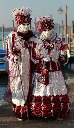 Venetian Costumes, Venice Carnival Costumes, Venetian Carnival Masks, Carnival Of Venice, Venetian Masquerade, Masquerade Ball, Mardi Gras, Masquerade Attire, Costume Carnaval