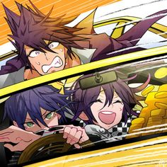 Saihara driving like a boss