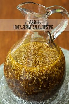 Asian Honey-Sesame Salad Dressing - Incredibly delicious, this dressing goes so well with a myriad of salad ingredients. It's not only a sal...