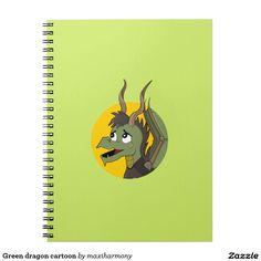 Green dragon cartoon notebook