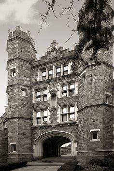 Outstanding stone work in the  architecture of Bryn Mawr College