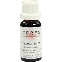 CERES Chamomilla - Kamillen Urtinktur:   Packungsinhalt: 20 ml Tropfen PZN: 00178778 Hersteller: CERES Heilmittel GmbH Preis: 15,52 EUR…