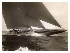 J Class Sailboat, 1934 Prints by Edwin Levick vintage sail boat