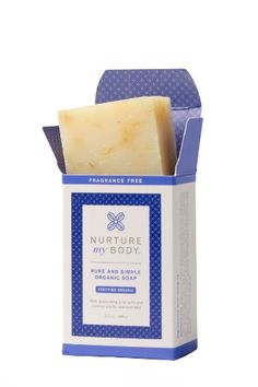 Nurture My Body Pure and Simple Bar Soap  100 Organic and All Natural  SLS Free  No Harsh Chemicals  Enriched with Coconut Oil Olive Oil  Aloe Vera Fragrance Free ** You can get additional details at the image link.