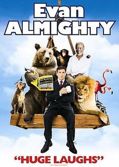 Evan Almighty (DVD, 2007, Widescreen) Morgan Freeman Region 1 Rated PG Comedy  #Universal