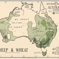 Trove releases some quirky old maps of Australia, starting with one dividing the country up into the sheep haves and have-nots.