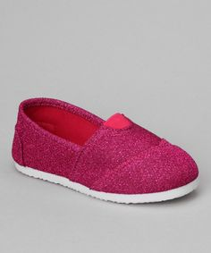 Take a look at this Fuchsia Glitter Cutie Slip-On Shoe by Rockland Footwear on #zulily today!