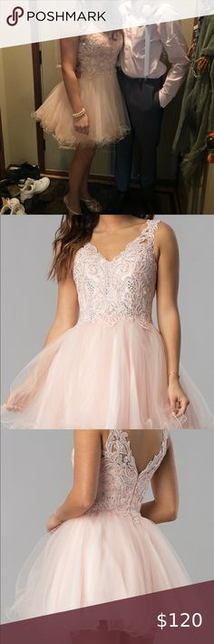 Size 4 short hoco dress with a great back! Just work once. Dancing Queen Dresses Mini Source by dresses short Blush Formal Dresses, Hoco Dresses, Dance Dresses, Homecoming Dresses, Dancing Queen Dresses, The Dress, Fashion Tips, Fashion Design, Fashion Trends