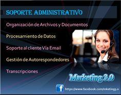 Soporte para las tareas administrativas de su empresa sin necesidad de contratar pesonal permanente