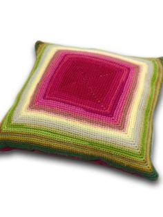 Glow Crochet Cushion By Sharon Brant - Free Crochet Pattern With Website Registration - (knitrowan)