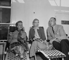Grace Kelly with her parents.