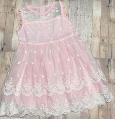 Boutique-Girls-Kids-Summer-Spring-Lace-Dress-Size-6