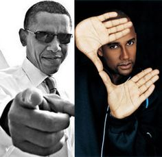 Barack Obama and Hill Harper.  Best friends since their Law School days at Harvard.