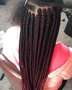 Braids Hairstyles Amazing Kinky Twist Hairstyles for Black Women - Box Braids Hairstyles Side Braid Hairstyles, Try On Hairstyles, African Braids Hairstyles, Black Women Hairstyles, Hairstyle Ideas, Box Braid Hair, Short Box Braids, Blonde Box Braids, Hair Updo