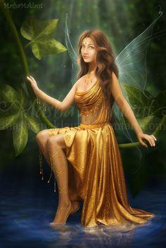 Golden-eyed-fairy by mashamaklaut.deviantart.com on @DeviantArt