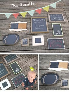 Homemade chalk boards