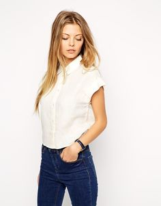 ASOS Grown on Sleeve Cropped Shirt