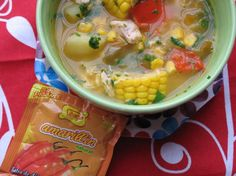 Peruvian Corn, Pepper and Chicken Soup