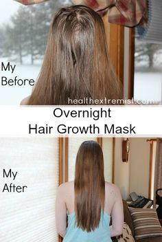 I've been using this overnight hair growth mask for a few months to increase hair growth. I've seen a great increase in hair growth and less hair breakage. Curly Hair Styles, Curly Hair Tips, Natural Hair Styles, Darken Hair Naturally, How To Darken Hair, Overnight Hair Growth, Overnight Hair Mask, Hair Mask For Growth, Hair Remedies For Growth