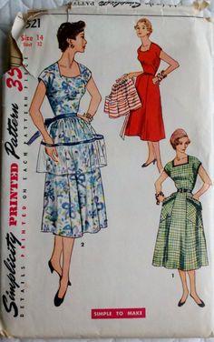 Vintage 1950's Women's Sewing Pattern Dress & by Sutlerssundries