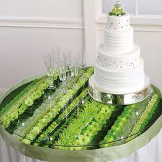 green floral arrangement by Absolutely Amazing Arrangements