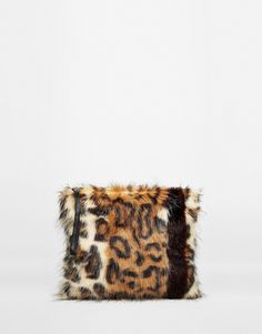 Image 1 of Urbancode Faux Fur Zip Top Clutch Bag With Wrist Strap