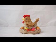 Cesto porta uova con gallina amigurumi - Schema e Video