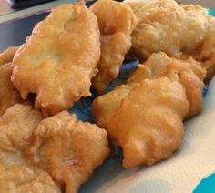"""I had been looking for a good fish batter that didn't include beer. I looked at several and came up with this recipe. We really enjoyed it. This will be my """"go to"""" batter for deep frying fish. Fish Batter Recipe Without Beer, Easy Fish Batter, Deep Fried Fish Batter, Crispy Fish Batter, Fish And Chips Batter, Cod Fish Batter Recipe, Fish Taco Batter, Fish Fry Breading Recipe, Gluten Free Fish Batter Recipe"""