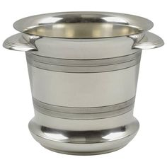 French Art Deco Modernist Silver Plate Champagne Bucket, Wine Cooler, 1930s | From a unique collection of antique and modern barware at https://www.1stdibs.com/furniture/dining-entertaining/barware/