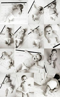 Monthly baby pics. Such a neat idea
