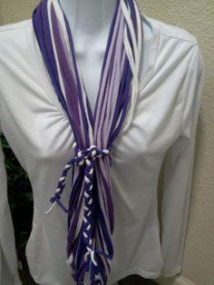 Shredded T Shirt Necklace Circle Eternity by LonestarFashions, $15.00