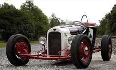 Ace of Spades modified track roadster. Narrowed 26 Ford roadster body, tube frame, Ford V8 60 engine.