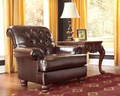 Weslynn Place Collection Traditional Faux Leather Upholstery Living Room Chair *** Check this awesome product by going to the link at the image. (This is an affiliate link) #AshleyChairs