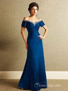 Wholesale Off-the-shoulder Taffeta A-line Mother of the Bride Dresses / Wedding Party Dresses