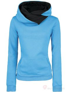Blue Hoodies Womens | Fashion Ql
