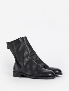 Paco Milan Mens Leather Crocodile Cuban Heel Zip Ankle Smart Evening Boots Black