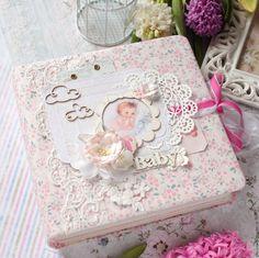 Купить Альбом для девочки - бледно-розовый, альбом ручной работы, альбом для девочки